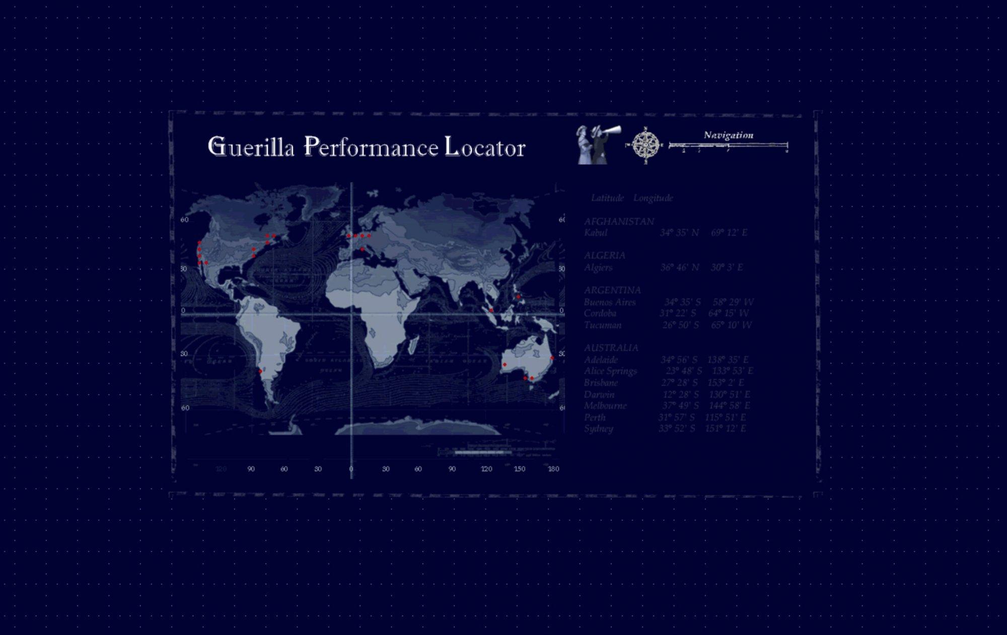 Guerilla Performance Locator